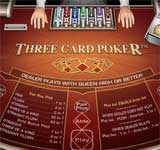 Click to play Three Card Poker