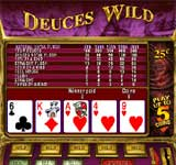 Click to play Free Deuces Wild Video Poker Game